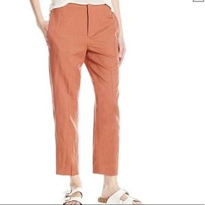 Vince High Rise Cropped Carrot Pants in Fig 0